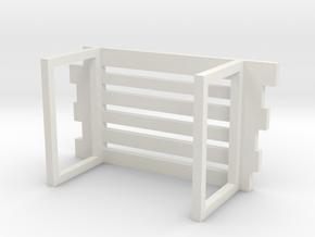 Transparent wood grain chair in White Natural Versatile Plastic