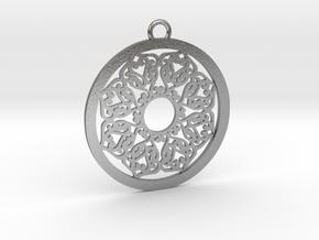 Ornamental pendant no.2 in Natural Silver