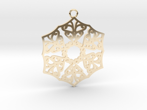 Ornamental pendant no.3 in 14k Gold Plated Brass
