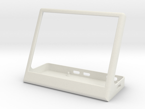 Enclosure for pimoroni inky wHAT and raspberry pi  in White Natural Versatile Plastic