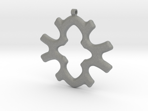 Geometric Necklace-34 in Gray Professional Plastic