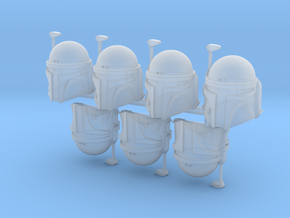 Manly Son Bucketheads (x7) in Smoothest Fine Detail Plastic