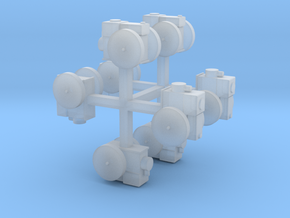 Stationärmotor mit Transmissionsabtrieb 8erSet TT  in Smooth Fine Detail Plastic