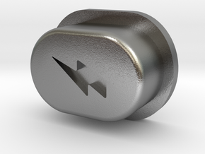 Y_mod_S Extended Button Only in Natural Silver