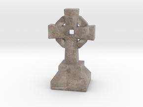 Miniature Stone Cross 03 in Natural Full Color Sandstone