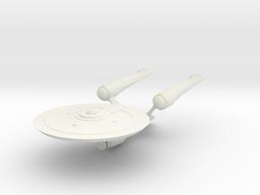 "Star Trek Beyond Enterprise A 3.4"" long in White Natural Versatile Plastic"