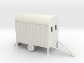 Bauwagen Mobile 1:160 Spur N Scale in White Natural Versatile Plastic
