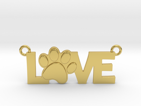 Unconditional Love Pendant in Polished Brass