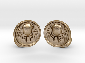 Predator Cufflinks in Polished Gold Steel