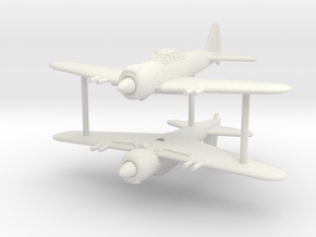 1/285 (6mm) Mitsubishi A6M8 Zero (x2) in White Natural Versatile Plastic