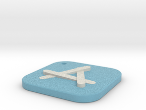 iOS Appstore Keychain in Natural Full Color Sandstone
