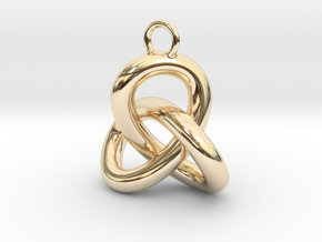 Trefoil Knot Earring in 14k Gold Plated Brass
