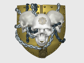 [Tiny Titans] 3 Skulls: Warlord Insignia Sets in Smooth Fine Detail Plastic