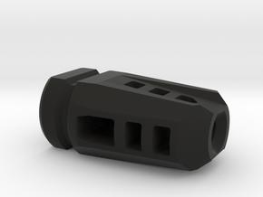airsoft fake muzzle brake in Black Natural Versatile Plastic