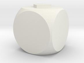 DICE in White Natural Versatile Plastic: Small