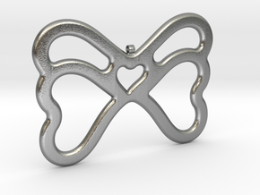 Butterfly Pendant / Necklace-21 in Natural Silver
