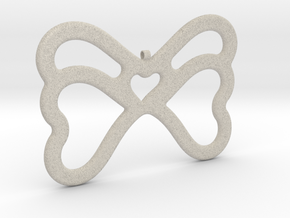 Butterfly Pendant / Necklace-21 in Natural Sandstone
