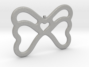 Butterfly Pendant / Necklace-21 in Aluminum