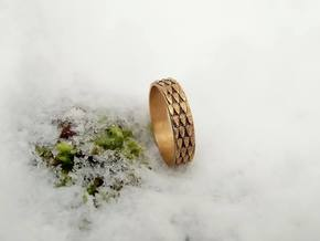 Celtic Dragon Scale Ring (Female version) in Natural Brass: 7.5 / 55.5