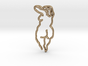 NUDE CONTOUR 1 in Polished Gold Steel