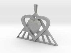 Pi Heart Medallion in Aluminum: Medium