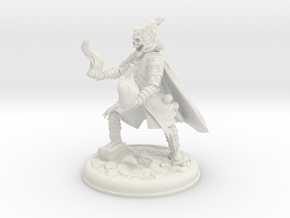 SKeleton Mage Pose 2 in White Natural Versatile Plastic