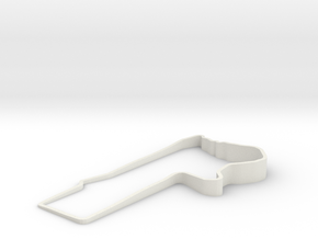 Bathurst 3D with elevation in White Natural Versatile Plastic