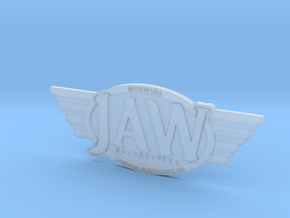 JAW Motorcycles Emblem  in Smooth Fine Detail Plastic
