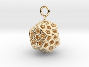 Level 2 Sierpinski Dodecahedron (small) in 14K Yellow Gold