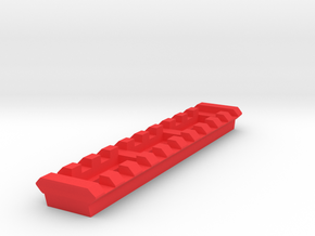 10 Slots Picatinny Rail (Pre-Drilled) in Red Processed Versatile Plastic