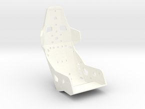 Aluminum 1:12 Racing Seat in White Processed Versatile Plastic