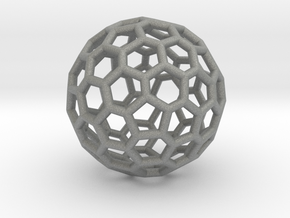 Fullerene-72 in Gray PA12: Extra Small