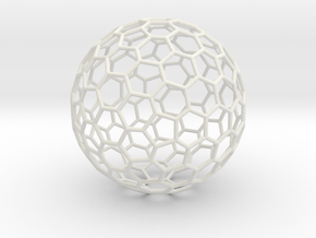 Fullerene-122 in White Natural Versatile Plastic: Extra Large