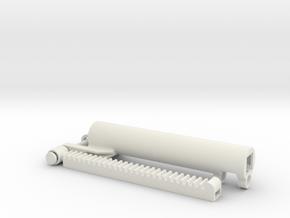 Gearrack actuator V3.1 Stroke 8.5 Studs in White Natural Versatile Plastic