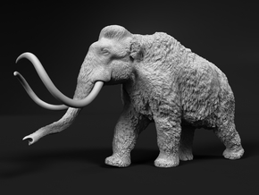 Woolly Mammoth 1:20 Walking Male in White Natural Versatile Plastic
