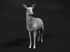 Waterbuck 1:48 Standing Female in Smooth Fine Detail Plastic