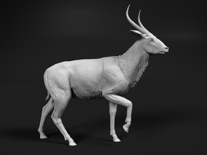 Waterbuck 1:6 Walking Male in White Natural Versatile Plastic