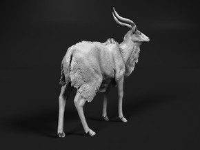Nyala 1:6 Standing Male in White Natural Versatile Plastic