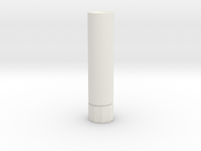 Airsoft Supressor 14mm ccw in White Natural Versatile Plastic