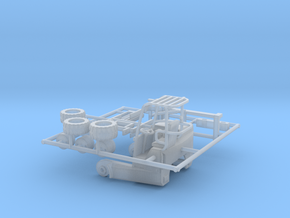 1/87th Moffet Type Piggyback forklift for flatbed in Smooth Fine Detail Plastic