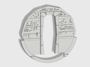 YT1300 FM 1/72 CABIN BACK WALL  in Smooth Fine Detail Plastic