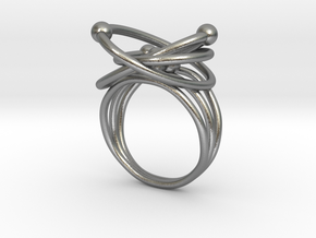 Atomic Model Ring - Science Jewelry in Natural Silver: 5 / 49