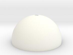 Micro SD Ball - Loop Top  in White Processed Versatile Plastic