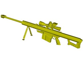 "1/24 scale Barret M-82A1 / M-107 0.50"" rifle x 1 in Smooth Fine Detail Plastic"