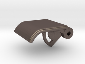 Rear Seat Release Handle in Polished Bronzed-Silver Steel