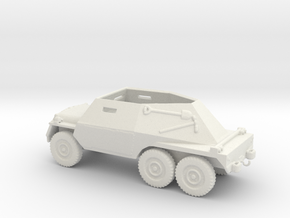 1/87 Scale 6x6 Jeep MT T24 Armored Scout Car in White Natural Versatile Plastic
