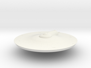 2500 TOS Saucer v9 in White Natural Versatile Plastic