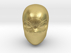 Spider-Man Head | Miles Morales/Peter Parker in Natural Brass