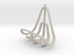 Geometric Necklace-41 in Natural Sandstone