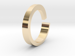 Rog Ring in 14k Gold Plated Brass